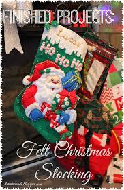 it u0027s marie made finished projects bucilla felt christmas stocking