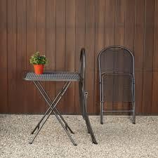 Metal Folding Bistro Chairs Royal Garden Ludwig 3pc Patio Folding Bistro Set