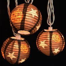 black and orange halloween background pumpkin halloween lantern string lights