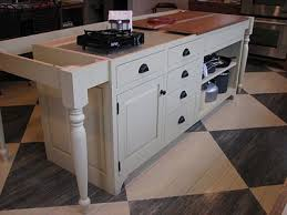 Kitchen Island With Legs Countryside 48 In W Drop Leaf Kitchen Island In Oak And Rubbed