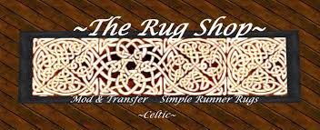 Celtic Rugs Second Life Marketplace Runner Rug Celtic Round Knott Red U0026 Gold