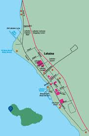 Maui Hawaii Map Lahaina Area Hawaii Revealed