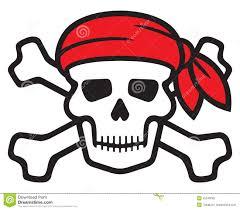 pirate skull stock vector illustration of bandana crossbones
