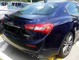 blue maserati ghibli 2014 2017 maserati ghibli sport line rear trunk lip spoiler