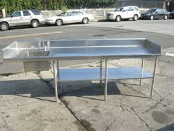 Stainless Kitchen Table by Custom Made Commercial Stainless Steel Kitchen Table U0026 Sink Used