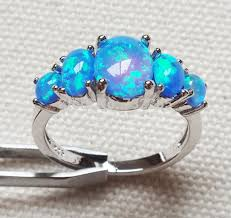 fire opal rings images Popular blue fire opal rings jewelry for anniversary in engagement jpg