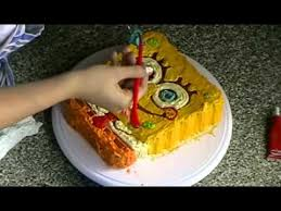 spongebob cake youtube