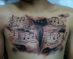 music chest tattoo designs u2013 tattoo ideas for men for girls