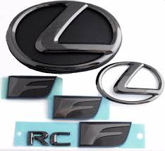 lexus rc f price in ksa 2015 2016 lexus rcf black pearl plated emblem kit without pre