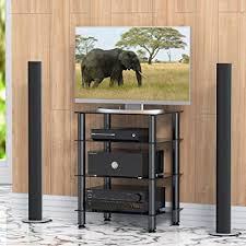 audio component cabinet furniture amazon com fitueyes 4 tier media stand audio video component