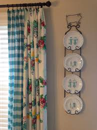 Retro Kitchen Curtains by Pioneer Woman Kitchen Curtains Using Tablecloths Farmhouse