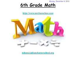 6th grade math monday december 9 ppt download