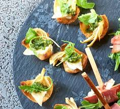 goats cheese canape recipes mini crostini with goat s cheese artichokes recipe food