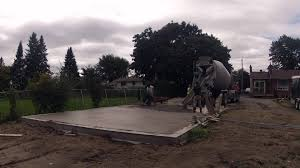 building a garage concrete slab time lapse youtube