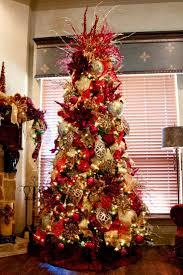 gold and red christmas tree theme christmas lights decoration