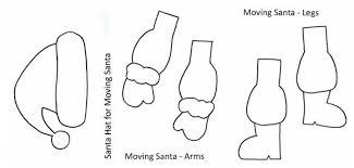 dancing santa christmas craft learning 4 kids