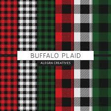 buffalo plaid digital paper check checkered lumberjack