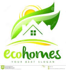 eco house real estate logo stock illustration image 39914768