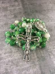 beautiful rosaries green rosary green and white rosary agate rosary