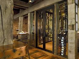 marvelous basement wine cellar with weathered wood