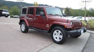 2007 jeep unlimited rubicon 2007 jeep wrangler maroon stock 13 3329a