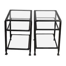 metal and glass end tables fabulous metal glass end table tables bronze and uk gold velecio