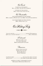order of ceremony for wedding program orthodox wedding program exle wedding directories order