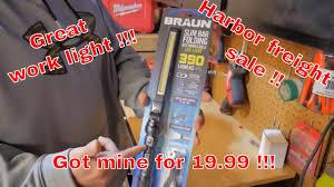 harbor freight light bar braun 390 lumen magnetic slim bar led folding work light harbor