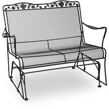 Veranda Metal Patio Loveseat Glider by Meadowcraft Patio Furniture Replacement Parts Home Outdoor