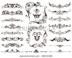 Art Deco Design Elements Art Deco Design Elements Vintage Ornaments Stock Vector 599530664