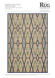 bamboo trellis blue bright rugs contemporary rugs shop
