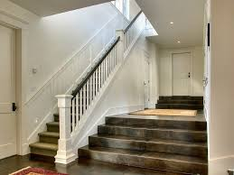 Staining Banister Seattle How To Stain Staircase Traditional With Carpeted Stairs