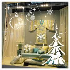 popular christmas tree window decal buy cheap christmas tree christmas tree white snow glass sticker window decal shop window christmas decoration china