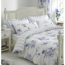 100 cotton helena springfield margueritte blue and white floral
