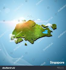 Map Of Singapore Realistic 3d Map Singapore Stock Illustration 303375485 Shutterstock