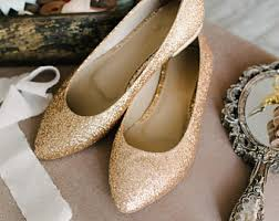 wedding shoes gold gold wedding shoes etsy