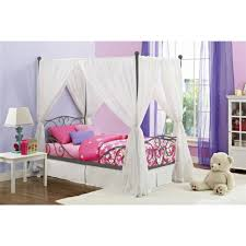 princess bed canopy for girls canopy twin metal bed multiple colors walmart com