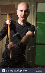 Harsh Lighting Angry Man Shovel Stock Photos U0026 Angry Man Shovel Stock Images Alamy