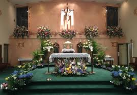 Easter Sunday Altar Decorations by Nativity Of Our Lord Parish
