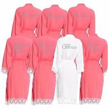wedding dressing gowns personalised cotton lace wedding robes set of 4 bridal dressing
