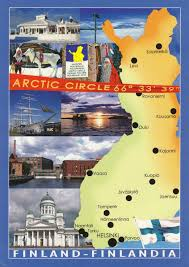 Arctic Circle Map Map Of Finland U2013 My Collection Of Postcards From The World