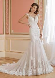 illusion neckline cap sleeved trumpet wedding dress 217218 margaret