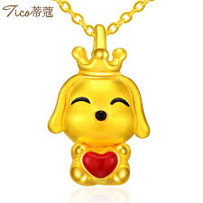 womens gold pendant necklace images Tiffany t0222 fashion crown dog gold pendant necklace women 39 s gold jpg