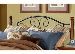 Iron And Wood Headboards by Bed Group Doral Metal And Wood Headboard