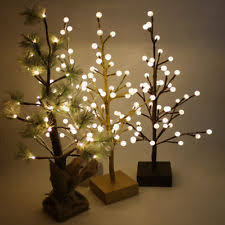 trees in type pre lighted tree colour brown ebay