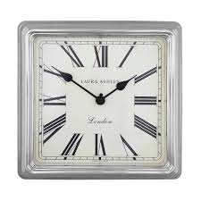 square silver finish wall clock at laura ashley time pinterest