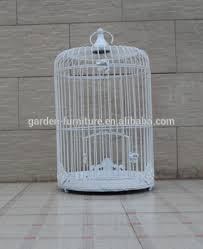 Bird Cage Decoration Garden Decor Round Vintage Painted White Bird Cage Decorative Bird