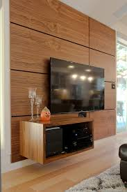 floating media cabinet living room modern with area rug l listed