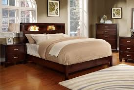 bed free standing headboard king storage bed with bookcase