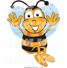 mascot vector cartoon of a bumble bee mascot cartoon character